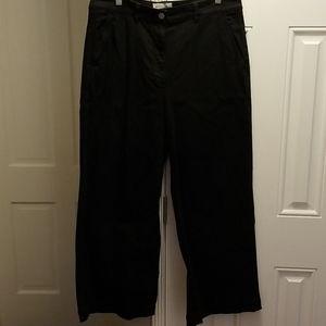 Everlane black cotton wide leg pants sz 14